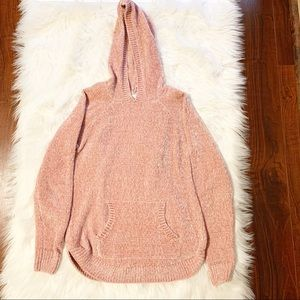 Chenille Hooded Sweater w/ Pockets